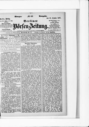 Berliner Börsen-Zeitung vom 19.10.1877