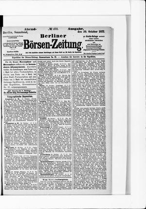 Berliner Börsen-Zeitung vom 20.10.1877