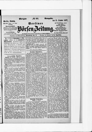 Berliner Börsen-Zeitung vom 21.10.1877