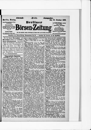 Berliner Börsen-Zeitung vom 22.10.1877