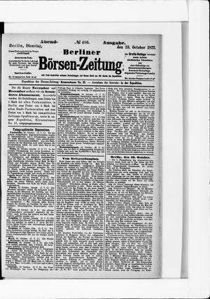 Berliner Börsen-Zeitung vom 23.10.1877