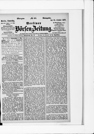 Berliner Börsen-Zeitung vom 25.10.1877