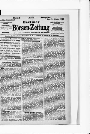 Berliner Börsen-Zeitung vom 27.10.1877