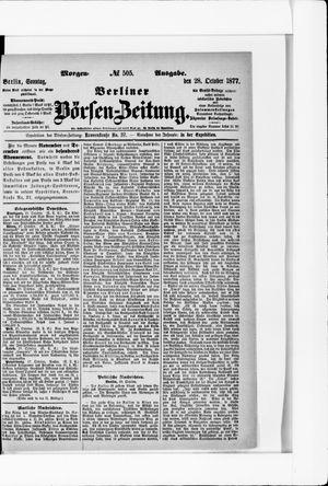 Berliner Börsen-Zeitung vom 28.10.1877
