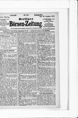 Berliner Börsen-Zeitung vom 29.10.1877