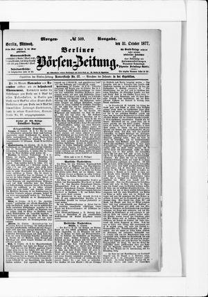 Berliner Börsen-Zeitung vom 31.10.1877