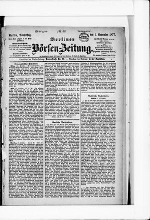 Berliner Börsen-Zeitung vom 01.11.1877