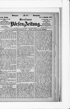 Berliner Börsen-Zeitung vom 02.11.1877