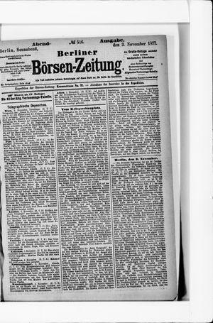 Berliner Börsen-Zeitung vom 03.11.1877