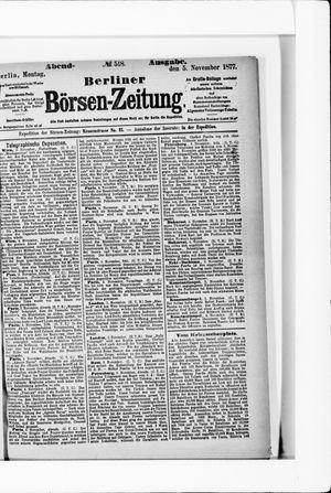 Berliner Börsen-Zeitung on Nov 5, 1877