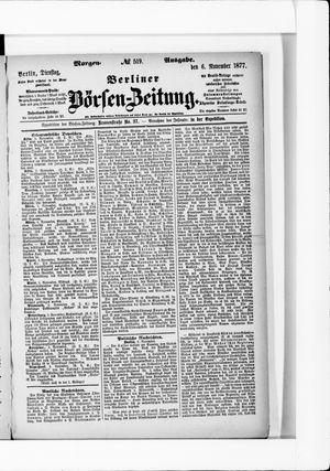 Berliner Börsen-Zeitung vom 06.11.1877