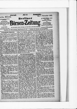 Berliner Börsen-Zeitung vom 07.11.1877