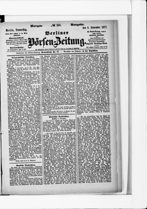 Berliner Börsen-Zeitung vom 08.11.1877