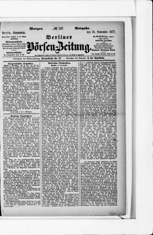 Berliner Börsen-Zeitung vom 10.11.1877