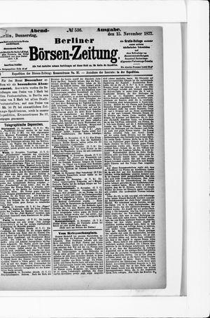 Berliner Börsen-Zeitung vom 15.11.1877
