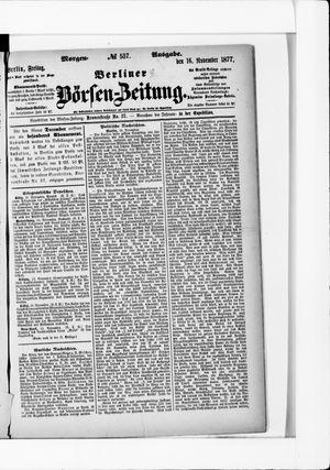 Berliner Börsen-Zeitung on Nov 16, 1877