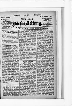 Berliner Börsen-Zeitung on Nov 18, 1877