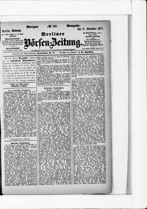 Berliner Börsen-Zeitung vom 21.11.1877