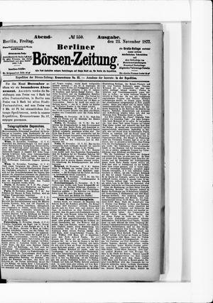 Berliner Börsen-Zeitung vom 23.11.1877