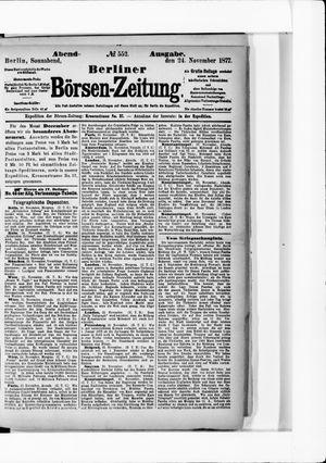 Berliner Börsen-Zeitung vom 24.11.1877