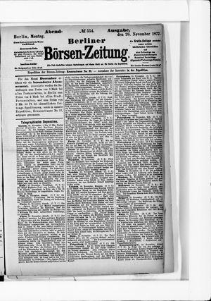 Berliner Börsen-Zeitung vom 26.11.1877