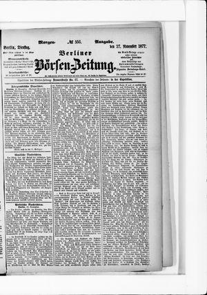 Berliner Börsen-Zeitung vom 27.11.1877