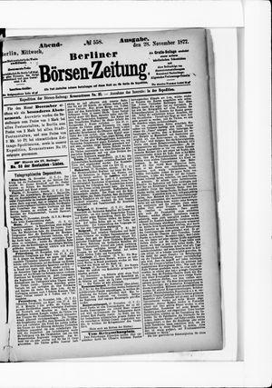 Berliner Börsen-Zeitung vom 28.11.1877