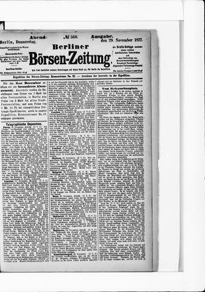 Berliner Börsen-Zeitung vom 29.11.1877