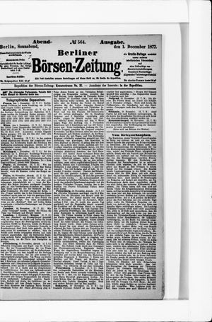 Berliner Börsen-Zeitung vom 01.12.1877