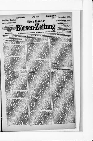 Berliner Börsen-Zeitung vom 03.12.1877