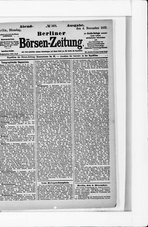 Berliner Börsen-Zeitung on Dec 4, 1877