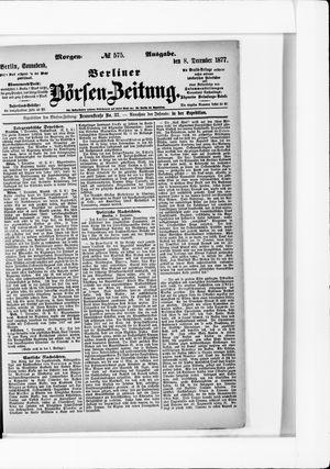 Berliner Börsen-Zeitung vom 08.12.1877
