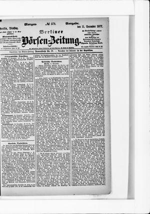 Berliner Börsen-Zeitung vom 11.12.1877