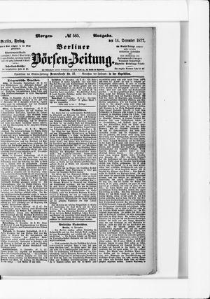 Berliner Börsen-Zeitung on Dec 14, 1877