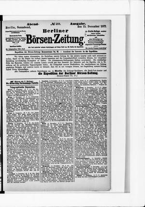 Berliner Börsen-Zeitung vom 15.12.1877