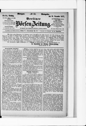 Berliner Börsen-Zeitung vom 18.12.1877