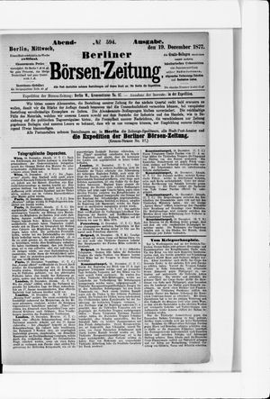 Berliner Börsen-Zeitung vom 19.12.1877