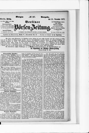 Berliner Börsen-Zeitung vom 21.12.1877
