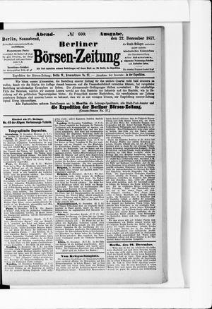 Berliner Börsen-Zeitung vom 22.12.1877