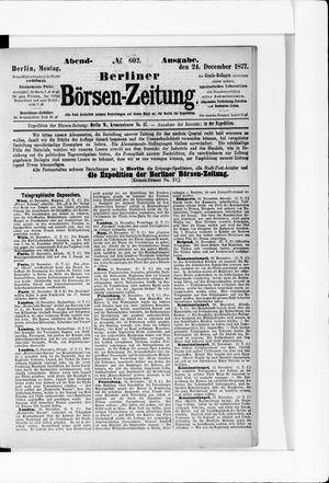 Berliner Börsen-Zeitung vom 24.12.1877