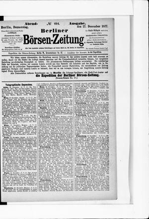 Berliner Börsen-Zeitung vom 27.12.1877