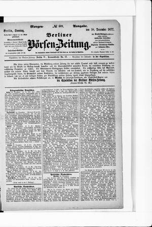 Berliner Börsen-Zeitung vom 30.12.1877
