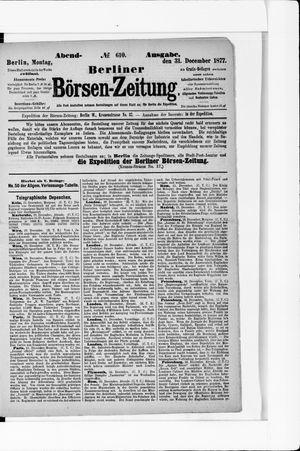 Berliner Börsen-Zeitung vom 31.12.1877