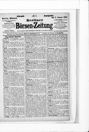 Berliner Börsen-Zeitung vom 02.01.1878