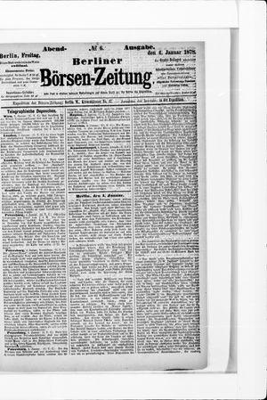 Berliner Börsen-Zeitung vom 04.01.1878
