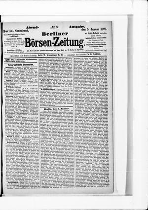 Berliner Börsen-Zeitung vom 05.01.1878