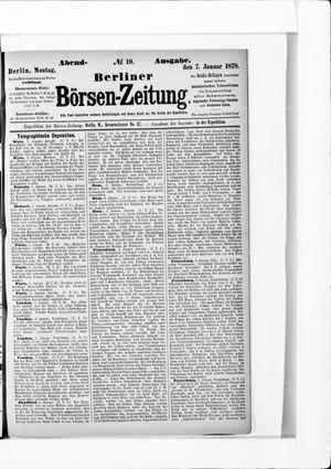 Berliner Börsen-Zeitung vom 07.01.1878