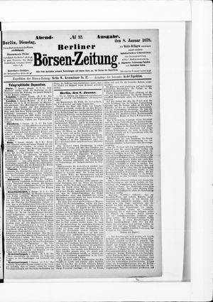 Berliner Börsen-Zeitung vom 08.01.1878