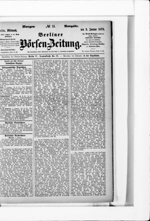 Berliner Börsen-Zeitung vom 09.01.1878