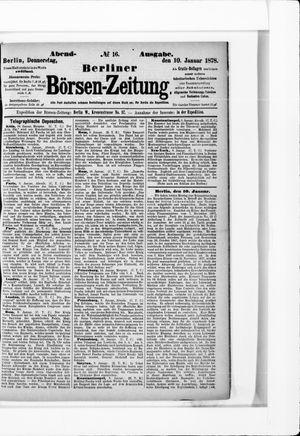 Berliner Börsen-Zeitung vom 10.01.1878